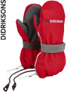 Didriksons Biggles red zip-vantar