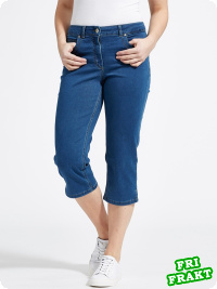 LauRie Charlotte Capri, medium blue denim
