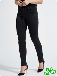 LauRie-jeans Laura slim, svart denim
